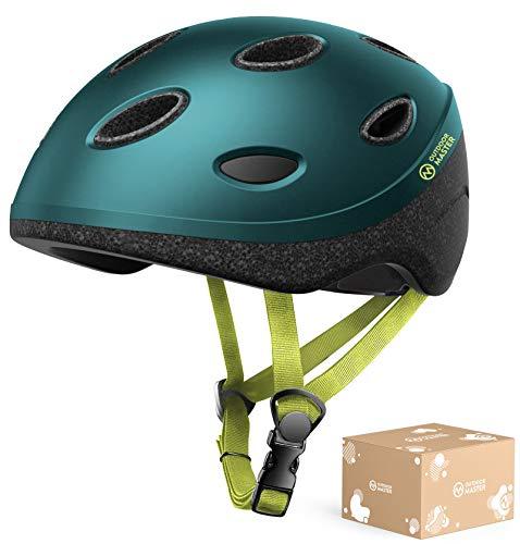 OutdoorMaster Alien Kids & Youth Bike Helmet - Lightweight 0.57lb 2-Size Adjustable for Bicycle, Scooter, Skateboard, Balance Bike for Kids 3-12 Years Old Boys Girls - Green - M