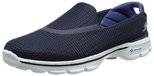 Skechers Performance Women's Go Walk 3 Slip-On Walking Shoe, Navy/White, 8.5 M US