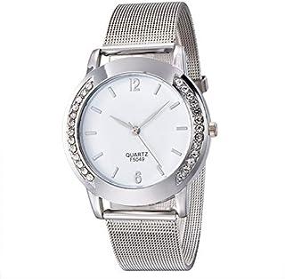 Xieifuxixxxnssb men's wrist watches Simple Design Women's Rhinestone Watches Golden Silver Alloy Watchband Luxury Lady Bra...