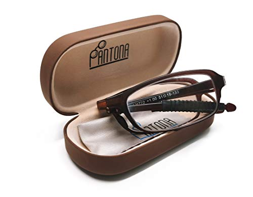 LEMON TREE SL Gafas PANTONA de Lectura Plegable Presbicia, Vista Cansada. Gafas Graduadas de Lectura para Hombre y Mujer. Montura Ligera Marrón +3.00