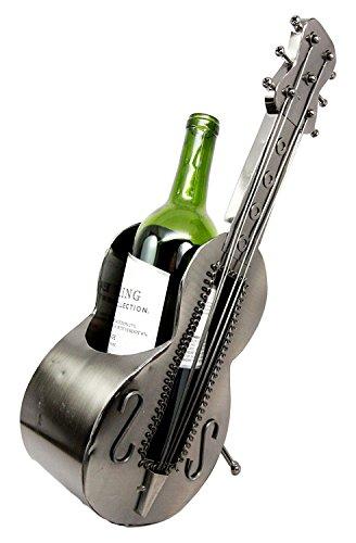 Metal Guitar Shaped Decorative Wine Holder