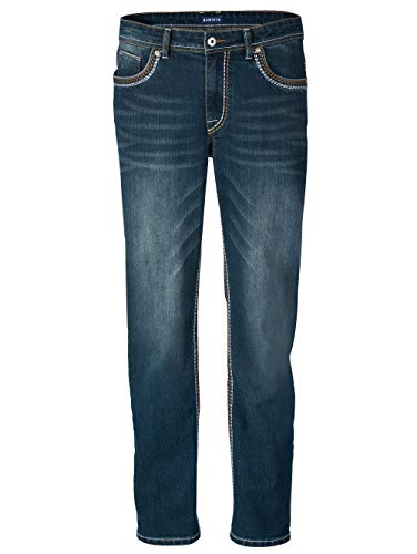 BABISTA Herren Straight Fit Lange Jeans in Blue Stone aus Baumwolle in moderner Used-Optik