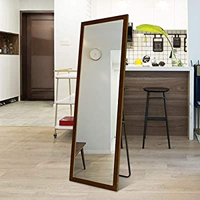 BOLEN Full Length Mirror PS Frame Mirror Standing Hanging or Leaning Against Wall Mirror Dressing Mirror