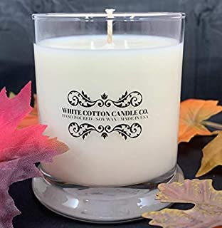 12 oz Coconut Lime Verbena Soy Candle/Cotton Wick/Phthalate Free/Free Shipping/White Cotton Candle Co.