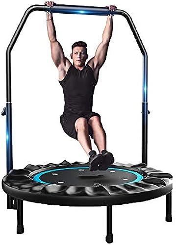 Caixia Trampolin, 40-Zoll-Trampolin - faltbar mit doppelter Sicherheitsarmlehne - H nverstellung - Fitness-Sprungbett für Erwachsene für Kinder