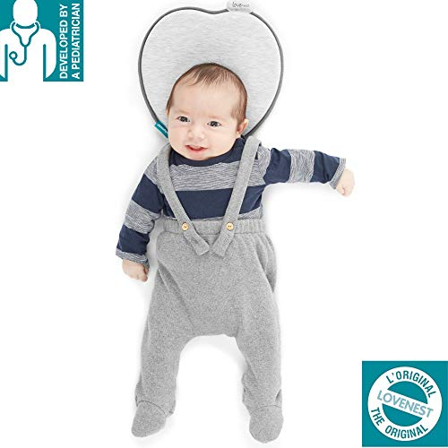 Babymoov Lovenest Baby Head Support | The Worlds First Pediatrician Designed Pillow to Prevent Infant Flat Head (From 0-4 months)
