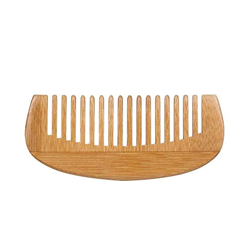 Ffshop Largo del Dente Pettine dei Capelli - Natural districante Pettine in Legno for Capelli Ricci - No Statico Sandalo Pettine for Donne e Uomini