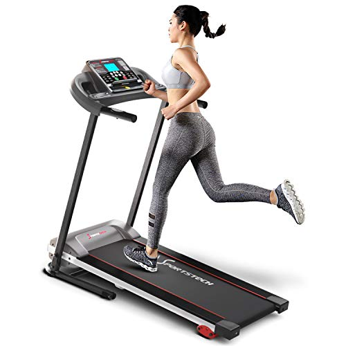 Sportstech F10 treadmill model 2020 - German Quality Brand + Video Events & Multiplayer App - NEW console - | 1HP to 10 km/h | running machine with 13 programs, incline + foldable