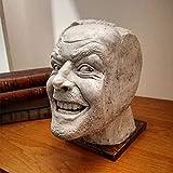 Bartholomew Étagère à livres, serre-livres, support pour étagères, sculpture de Shining Bookend Library, ici est Johnny Sculpture, décoration de bureau en résine