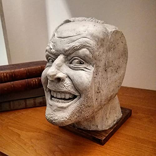 Marjory Jack Nicholson sculpture, interior sculpture ornament of the shiny bookend library, Johnny sculpture resin for room, study, office, desktop ornament, bookshelf
