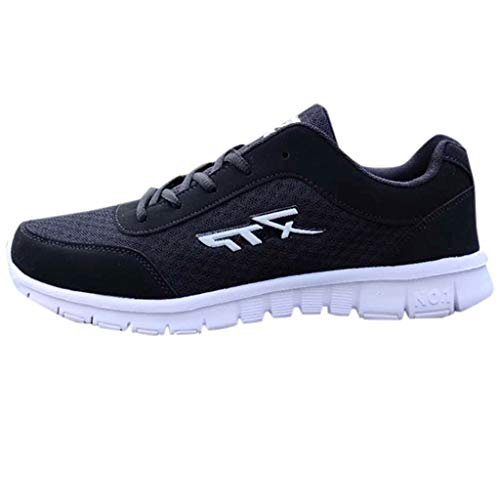 AIni Herren Schuhe Sale Mode Beiläufiges 2019 Neuer Heißer Sommer Laufen Lässige Mesh Atmungsaktive Sportschuhe Freizeitschuhe Partyschuhe (46,Schwarz)
