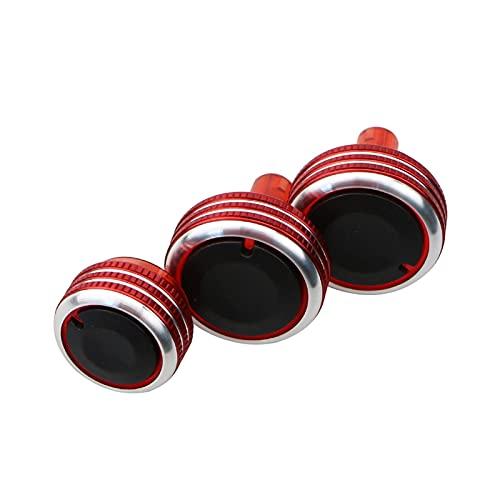 YuQiLin Perilla AC Aire Acondicionado Control de Calor Interruptor Interruptor Accesorios/Ajuste para -Nissan Versa Note Marzo Micra Cube Almera Latio Sunny / (Color Name : Upgrade Red)