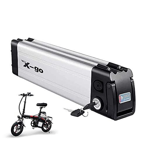 X-go 36V 10AH batería de Iones de Litio para Bicicleta eléctrica Adecuada para Motor de Bicicleta eléctrica 250W 350W 500W (Yinyu Battery, 36V 10AH 4pines)