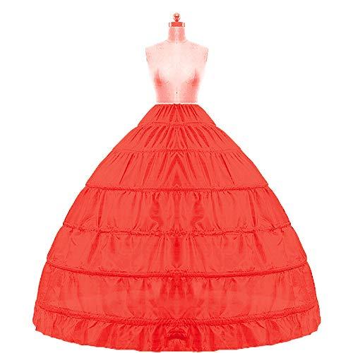 Kinandpri Crinoline Petticoat Onderrok 6 Hoop Bal Jurk Rok Trompet Slip Vloer Lengte voor Bruidsjurk