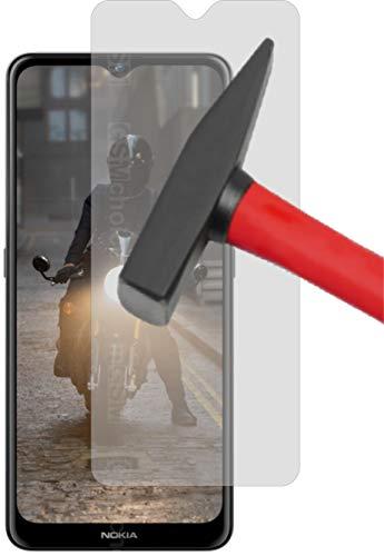 EnWi I 2X Panzerfolie 9H Hybridglas KLAR passexakt für Nokia 2.4 - Displayschutzfolie Schutzhülle