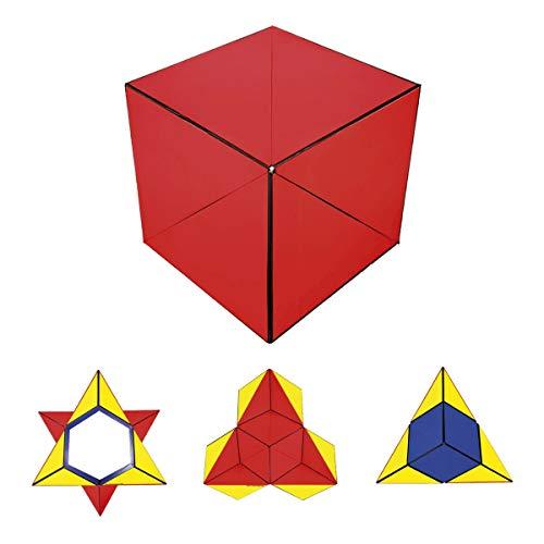 GeoBender - Cubo magnetico 3D 1 x Primary-1 con 104 variaciones - Juguete antiestres de Rompecabezas niños y Adultos - Juegos de Puzzle de Paciencia Creativo - Infintiy Cube de Jugar de Aprendizaje