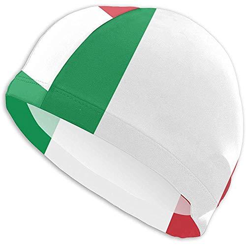 Swim Cap Italia Flag Swim Ming Cap Gorra de baño para Mujer y Hombre