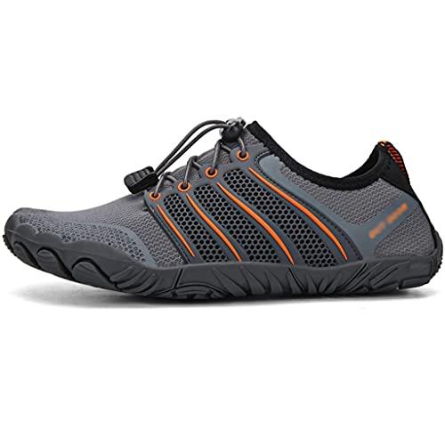 Zapatos Anti-Corte Río Río Arriba para Hombre En Verano, Botas De Pesca Al Aire Libre Transpirables, Calzado De Vadeo Anfibio Ligero Y De Secado Rápido (Color : Gray, Size : US-9.5(Men))