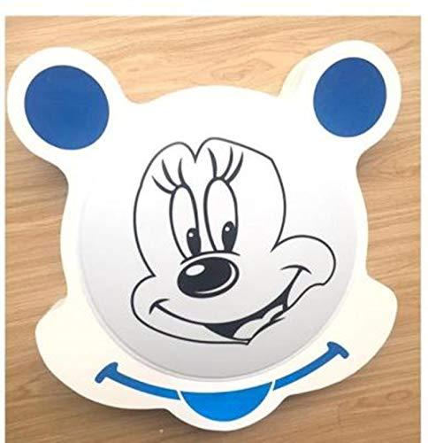 Lámpara De Techo Regulable Con Mando A Distancia Para Habitación Infantil,Plafón De Techo Infantil Cuarto,Lámpara De Dibujos Animados Mickey Mouse Mickey 53 * 51 * 9 Cm Luz Blanca Azul
