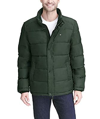 Tommy Hilfiger Men's Classic Puffer Jacket, Hunter Green, X-Large