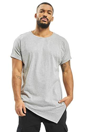 Urban Classics Asymetric Long tee Camiseta, Gris (Grey 111), M para Hombre