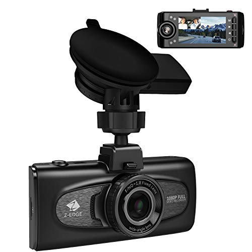 Uber Dual Dash Cam, Z-Edge F1 2.7' LCD Front and Inside Car Camera, Infrared Night Vision Dash Camera for Cars, Dual 1920x1080P, 1440P Front Camera with GPS, Sony Sensor, G-Sensor, Support 256GB Max