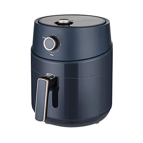 JKM 3.7 Quart Air Fryer Oven 1500W,15 E-Recipes, Control Timer&Temp Knob, Auto Shut Off, Navy Blue