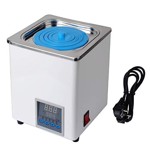 Lab Digitales Thermostat-Wasserbad, elektrisches digitales Display, Labor-Wasserbad mit wählbaren Öffnungen für Labor-Experimente, Temperaturbereich: +10-100 ℃, 300 W, 220 V/50 Hz (UK-Stecker)