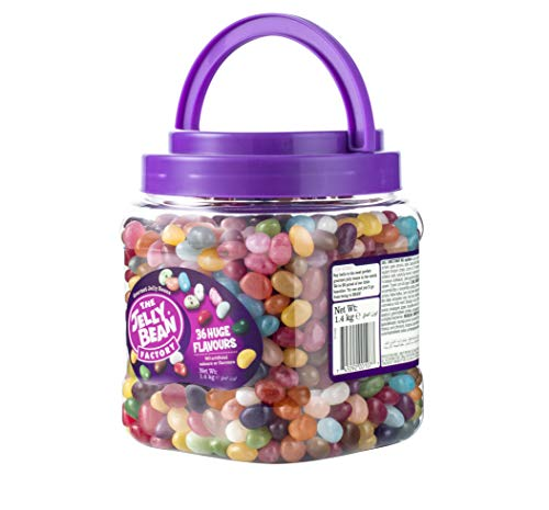 The Jelly Bean Factory Huge Flavours, 1.4Kg Confectionery Food Cupboard