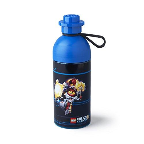 LEGO 4042 Nexo KNIGTHS, Botella de Agua, 500 ml, Apta para Hielo, Azul, Transparent Blue, 7 x 7 x 21.5 cm