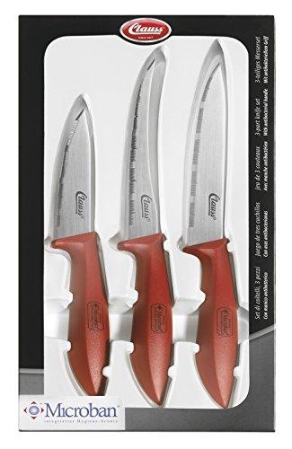 Clauss Messer Cuchillos de Cocina, Acero, Marrón, 27.50x14.50x2.80 cm