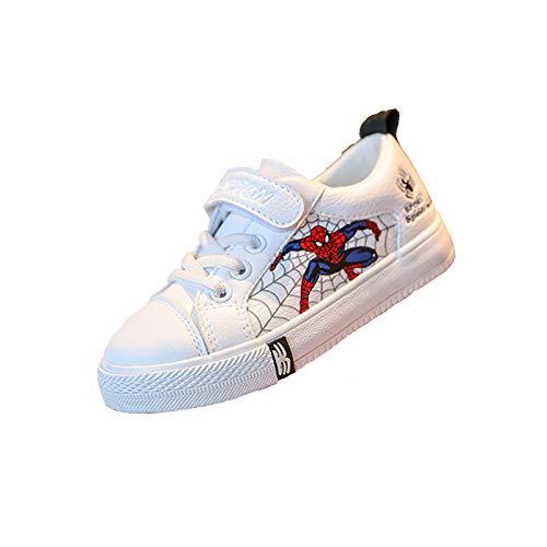 MIAOXI Enfants Spiderman Baskets Basses Garçons Mode Dessins Animés Sports Occasionnels Chaussures De Course,Black-28EU