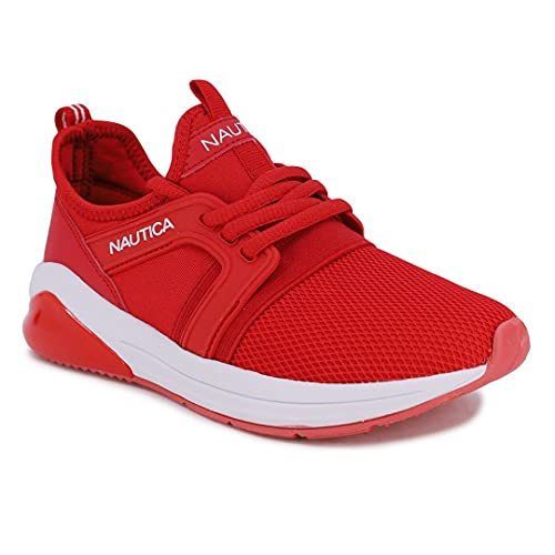 Nautica Kids Boys-Girls Sneaker Comfortable Running Shoes-Parks Buoy-Red White Navy-1