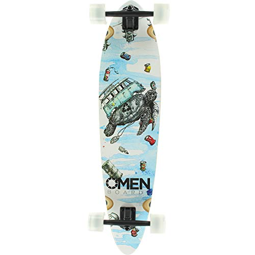 """Omen Boards Sea of Debris Longboard Complete Skateboard - 9.1"""" x 38"""""""