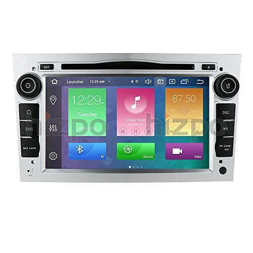 Android 10 Car Radio Reproductor de DVD con Bluetooth Navegación GPS Pantalla táctil de 7 Pulgadas 4G RAM + 64G ROM Compatible con Opel Antara Vectra Crosa Vivaro Zafira Meriva (Plata)