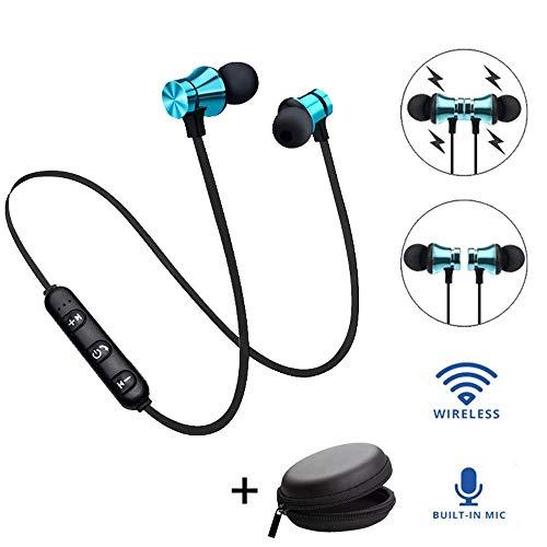 YiGaTech Bluetooth Kopfhörer In Ear Sport V4.2, IPX5 Schweißresistent Stereo magnetischer Sport Ohrhörer mit 10 Meter Reichweite, eingebautes Mikrofon für iPhone, Huawei und Samsung (50pcs