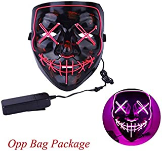 TANGGOOO 2019 Halloween Mask Up Party Masks The Purge Election Year Great Funny Masks Festival Cosplay Costume Glow in Dark Must-Have Friendship Gifts Girl S Favourite Superhero Dream Unboxing Box