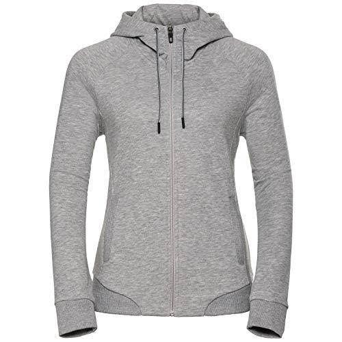 Odlo Damen Hoody Midlayer Full Zip Core Pull XL Gris