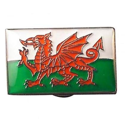 Wales, Waliser Red Dragon Flag Metall Emaille Anstecknadel Abzeichen