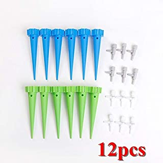 Watering Kits - 12pcs Auto Drip Irrigation Watering System Automatic Watering Spike for Plants Flower Indoor Household Wat...
