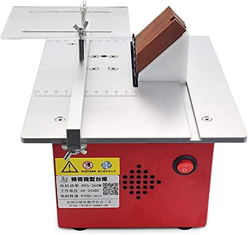 ZGHTD Mini Sierra de Mesa, Sierra Artesanal con Función de Empuje, Función de Elevación, Regla de Empuje En Ángulo, Sierras de Banco para Cortar Tablones de Aluminio