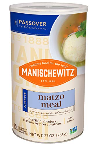 Manishewtiz Matzo Meal, 16 oz Resealable Canister, (2 Pack - Total 2lbs) Kosher for Passover
