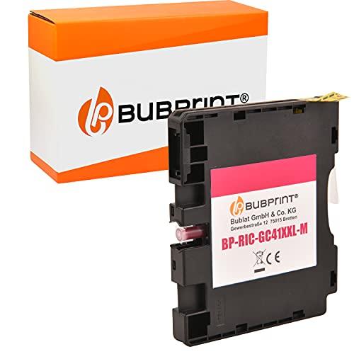 Bubprint Kompatibel Druckerpatrone als Ersatz für Ricoh GC-41 GC-41M für Aficio SG2100N SG3100SNw SG3110DN SG3110DNw SG3110SFNw SG3120 SG7100DN SG-K3100DN Magenta