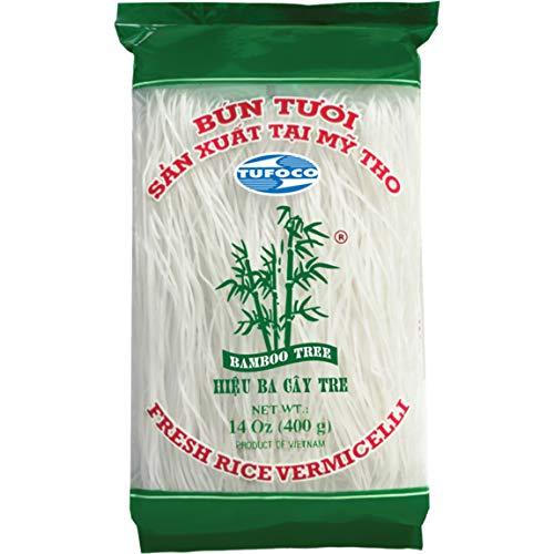 Bamboo Tree Fideos de Arroz de Árbol de Bambú, Fideos, Fáciles de Preparar y Rápidos de Preparar, Calidad Premium, 400 Gramos