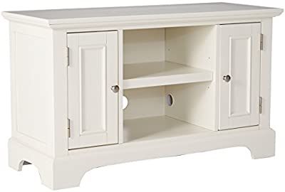 Home Styles 5530-09 Naples TV Stand White Finish [並行輸入品]