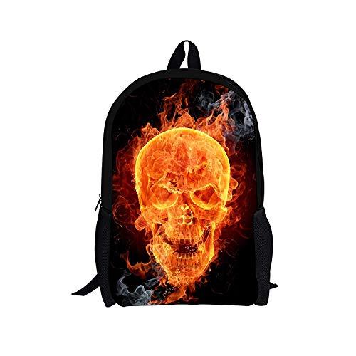 Nopersonality Skull Backpack Rucksack School Bags for Boys Teenage Cool Junior Student Bookbags Lightweight Book Satchel Small