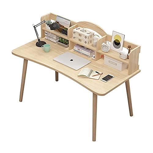 AWJ Escritorio de Madera para computadora con Estante de Almacenamiento Mesa para computadora portátil Escritorio de Estudio para Oficina en casa