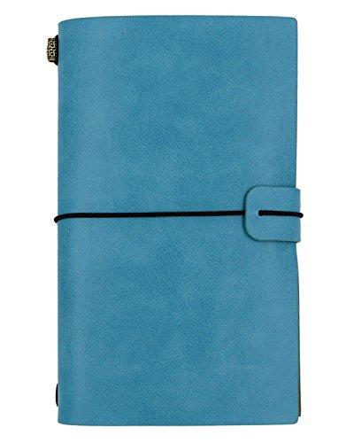 NectaRoy Leder Cover Notebook Retro Vintage Tagebuch Notizblock Studenten Favor mit Karten Inhaber, Größe 12 * 20cm Tagebuch zum Selbst Gestalten für Individuelle Reiseberichte