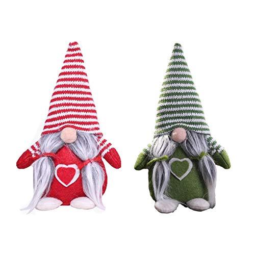 2 piezas de peluche para el día de San Valentín, muñeca feliz, de pascua, sin rostro, decoración para el día de San Valentín, decoración de familia, Día de San Valentín, hecha a mano (A)
