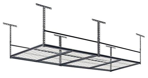 Muscle Rack LR4896-SV 96W x 48D Overhead Garage Adjustable Ceiling Storage Rack